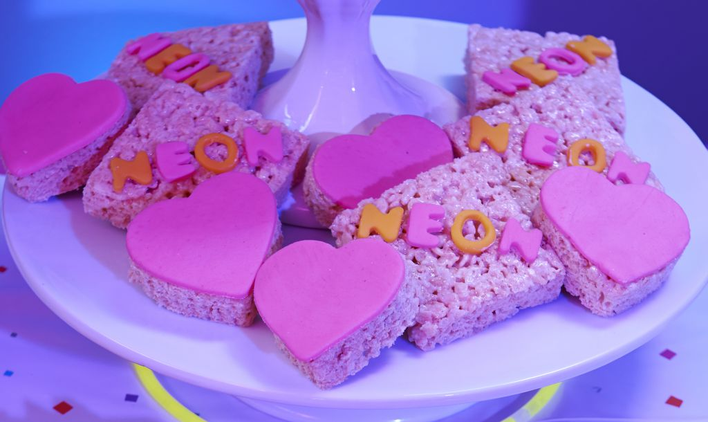 Neon Rice Krispy Treats